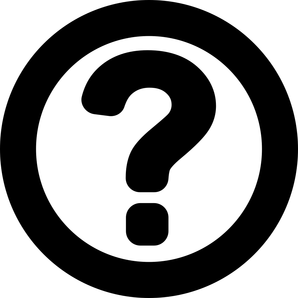 Question Sign In A Circle