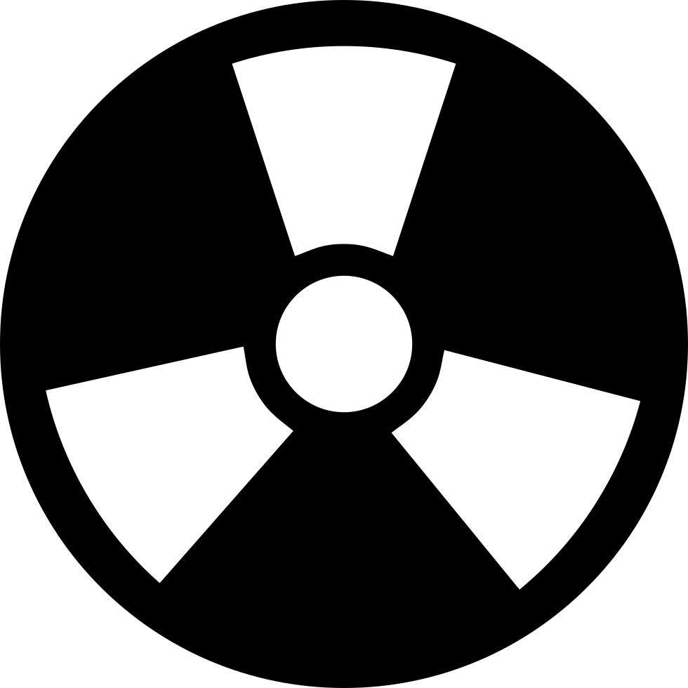 Radiation Circular Symbol With Three Rays