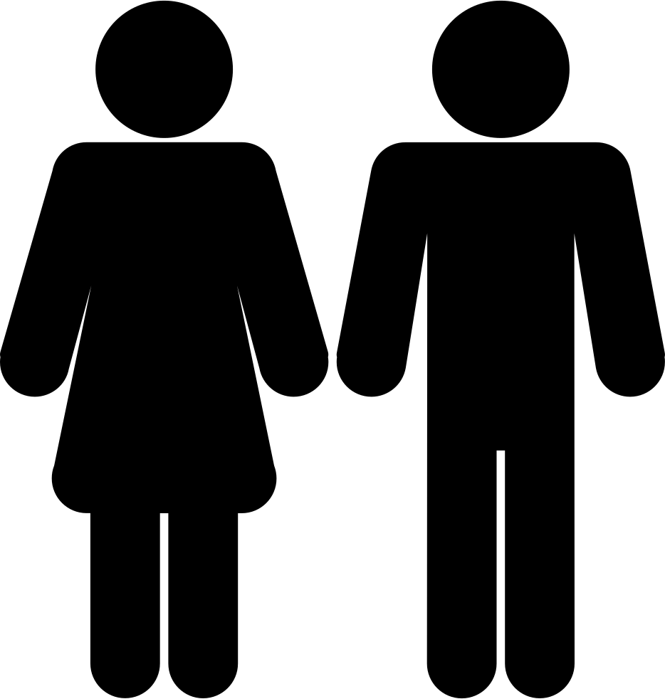 man and woman icon female and male shapes silhouettes svg png icon free 1007