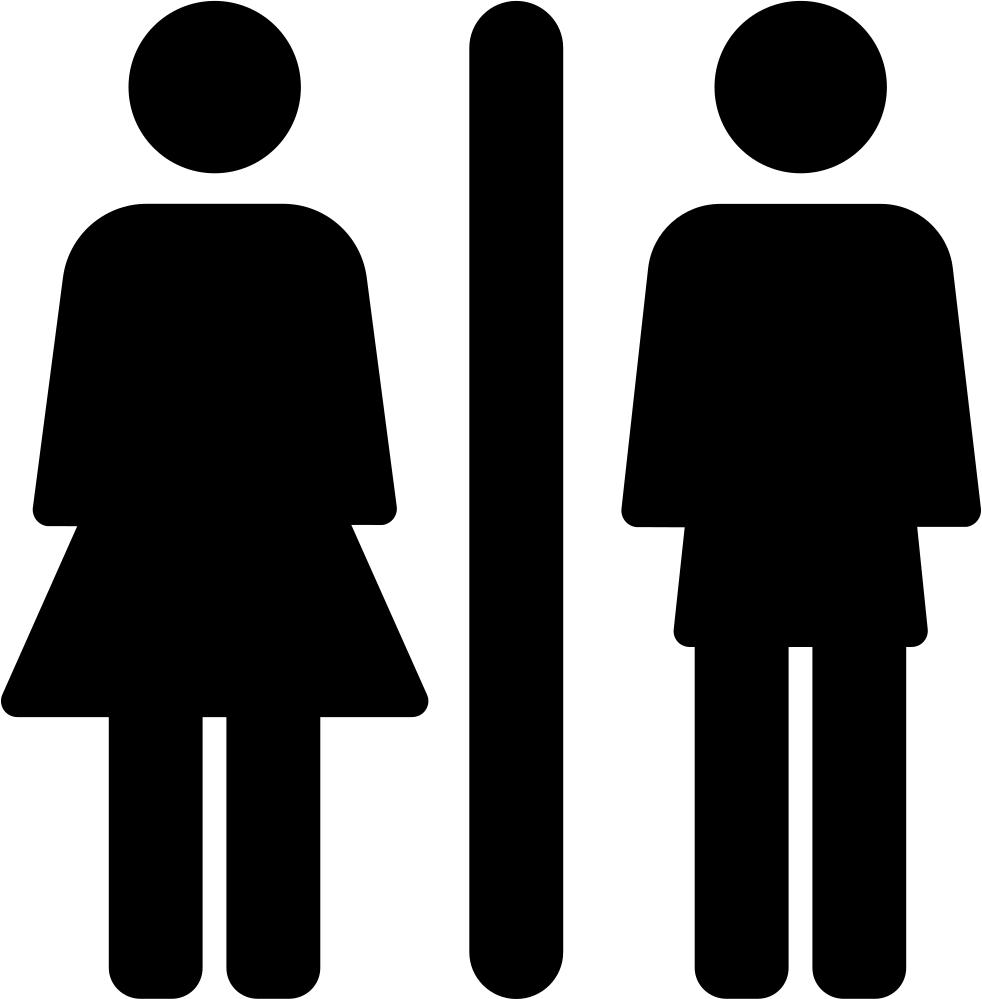 Toilets Sign With Woman And Man