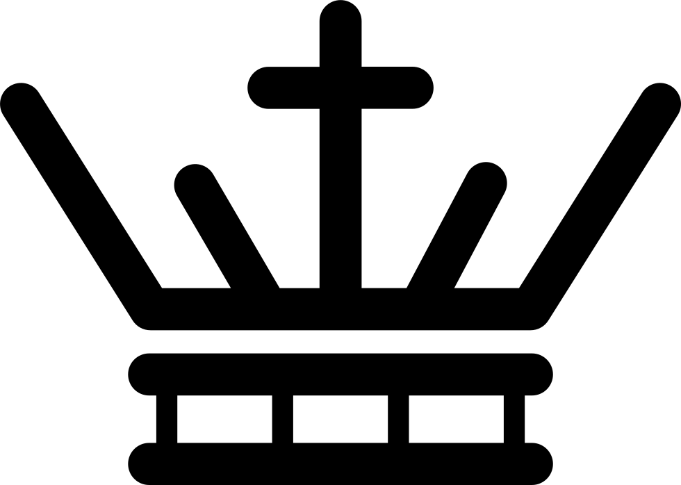 Royal Crown Of Lines With A Cross