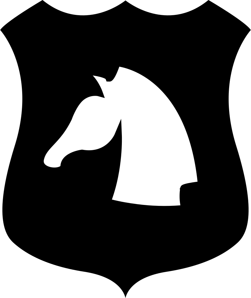 Horse Head On A Shield