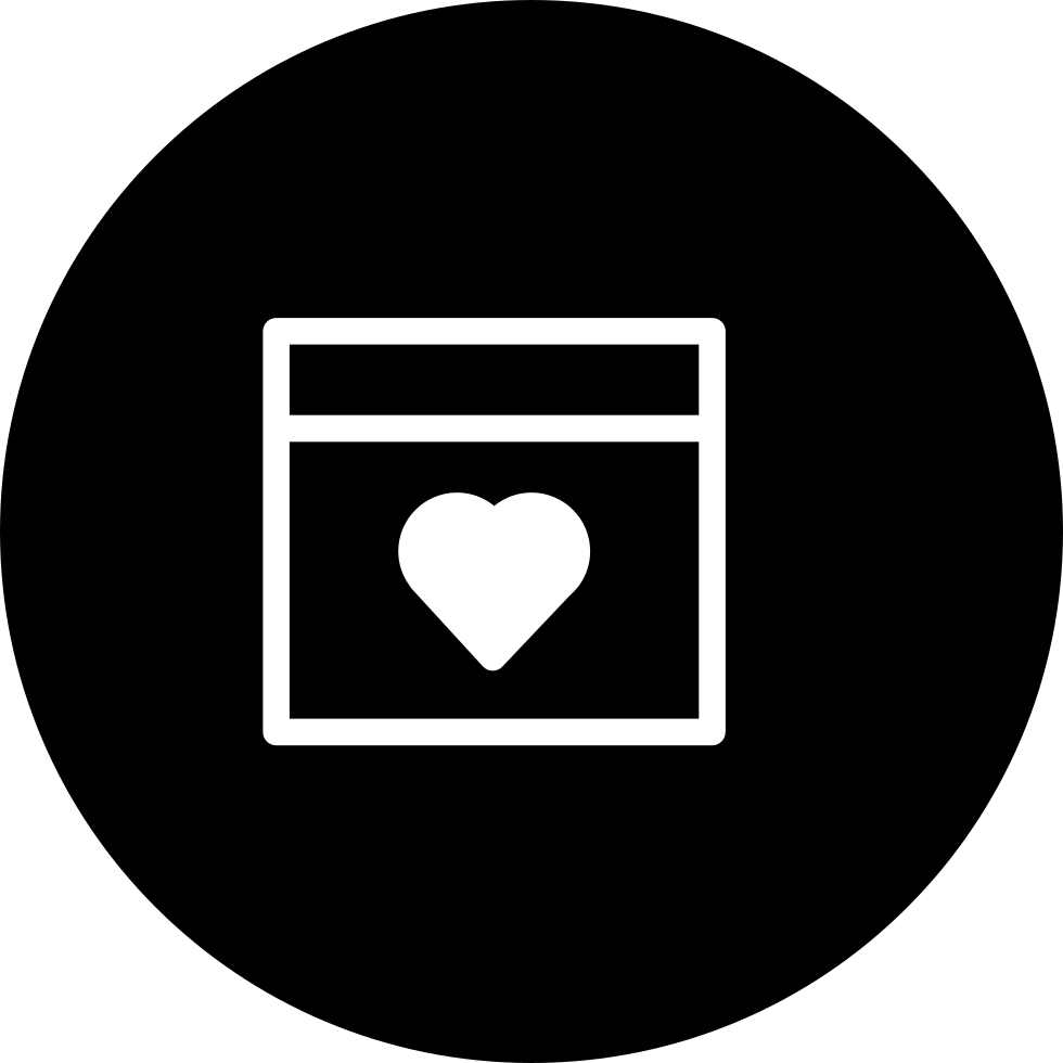 Browser With A Heart Symbol Inside A Circle