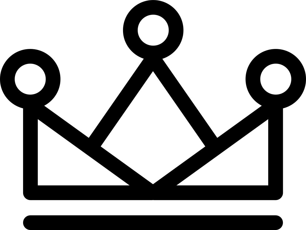 Royal Crown Triangles With Circle Outlines