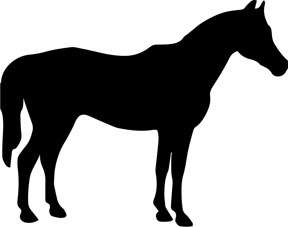 Horse Black Silhouette Facing To Right