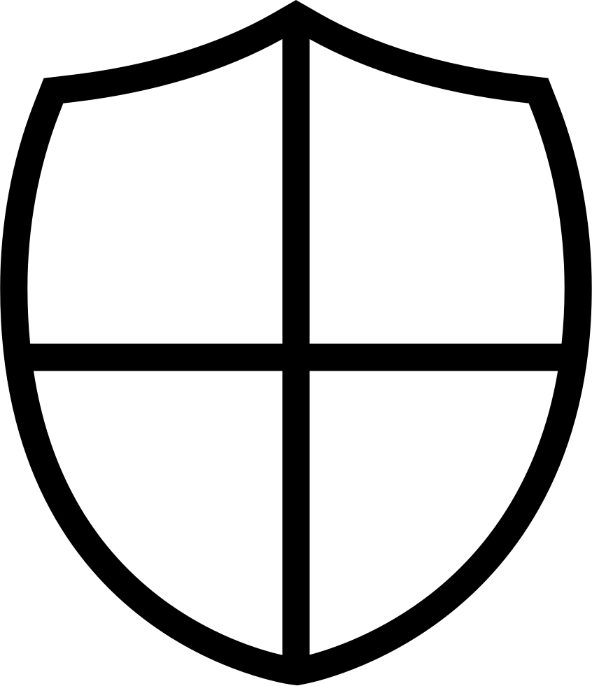 Shield Little Shape With A Cross