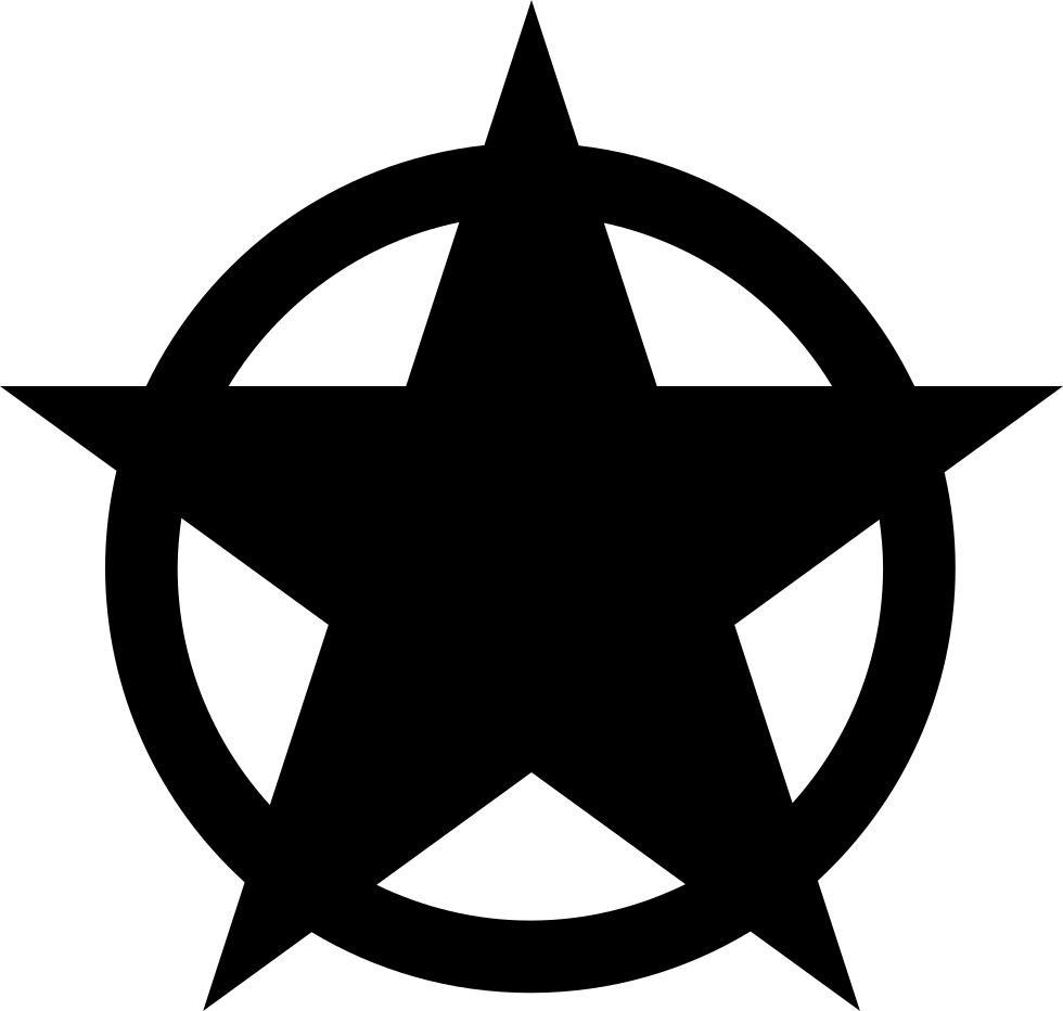Star Shape In A Circle