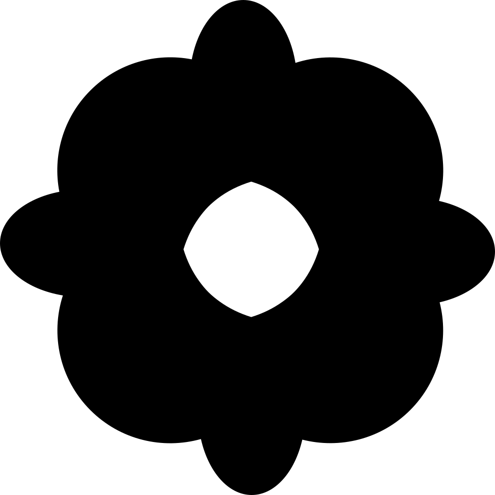 Flower Black Shape