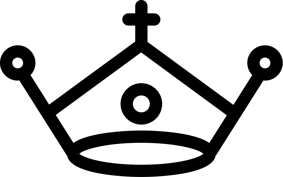 Royal Crown With A Cross