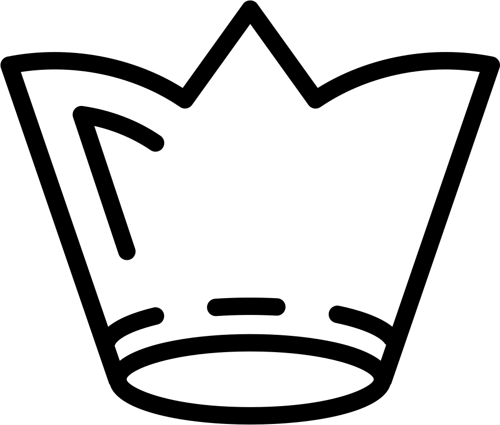 Royal Crown Outline Of Tall Design