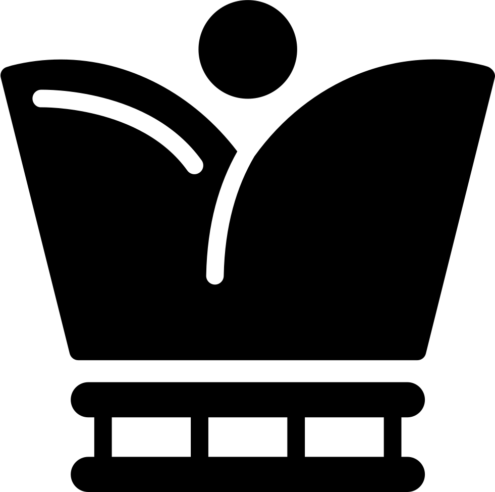 Royal Crown Variant Silhouette With Circle Shape
