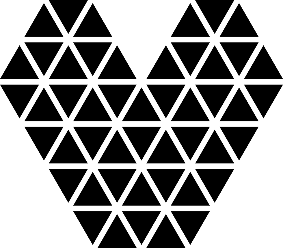 Heart Made Of Small Triangular Shapes