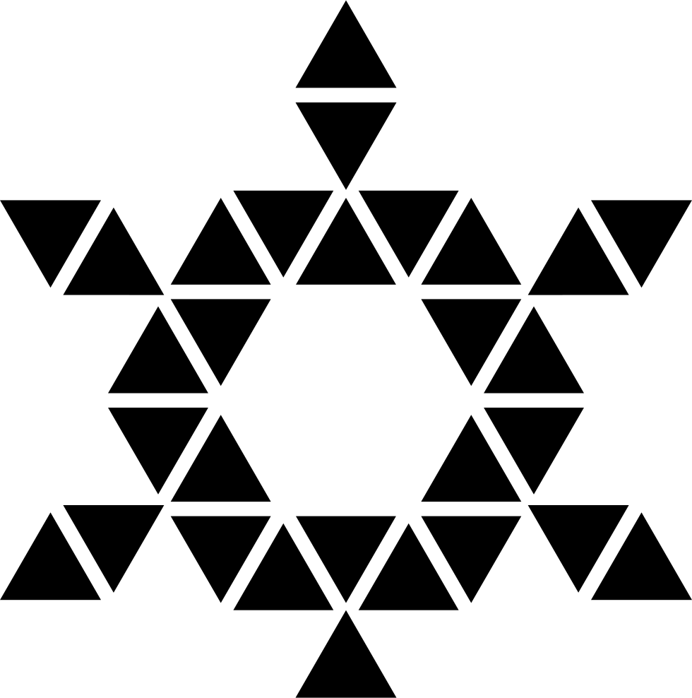 Star Of Six Points Formed By Triangles With And Hexagon Center