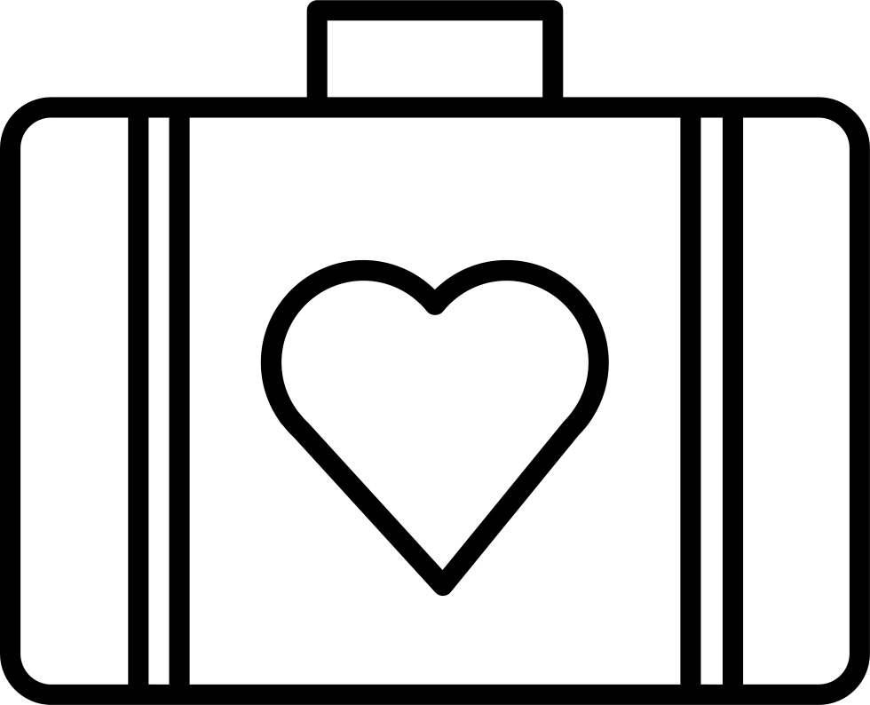 Suitcase Of Black Case With A Heart Shape