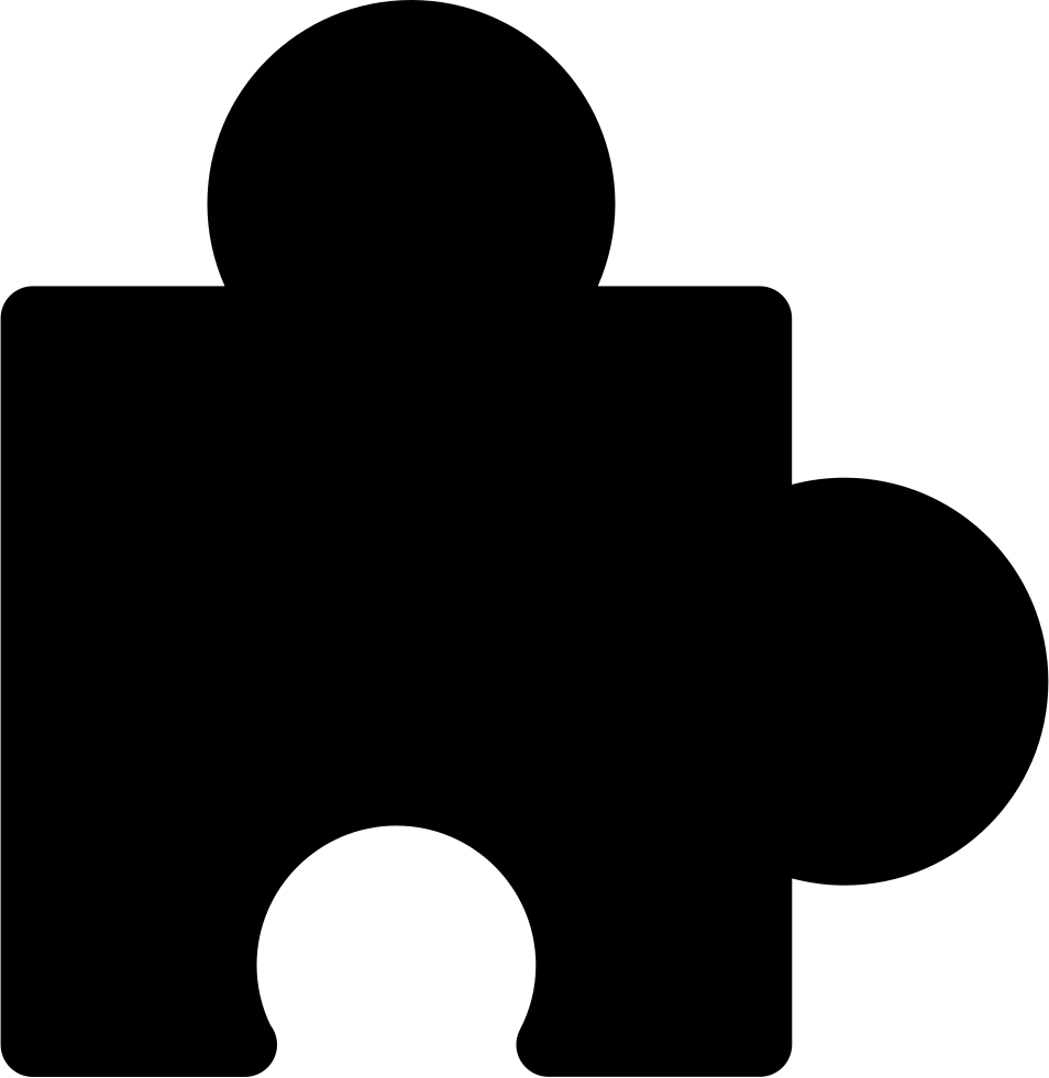 Puzzle Black Piece Shape