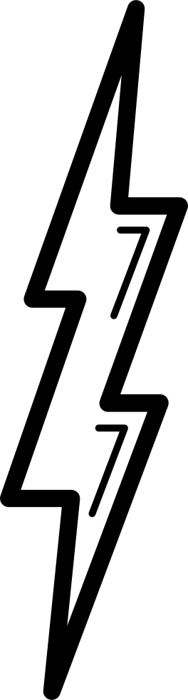 Bolt Shape Outline Symbol