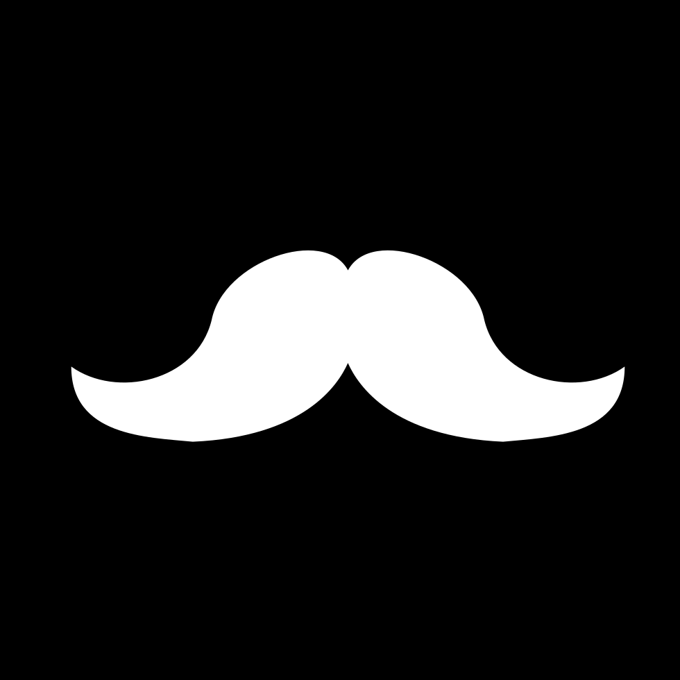 Mustache Shape In A Square