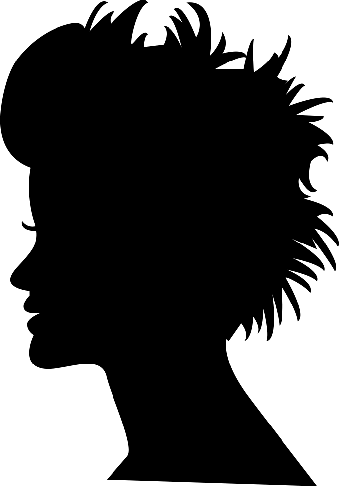 Head Silhouette With Short Hair