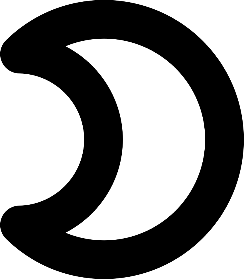 Moon Phase Gross Outline Symbol