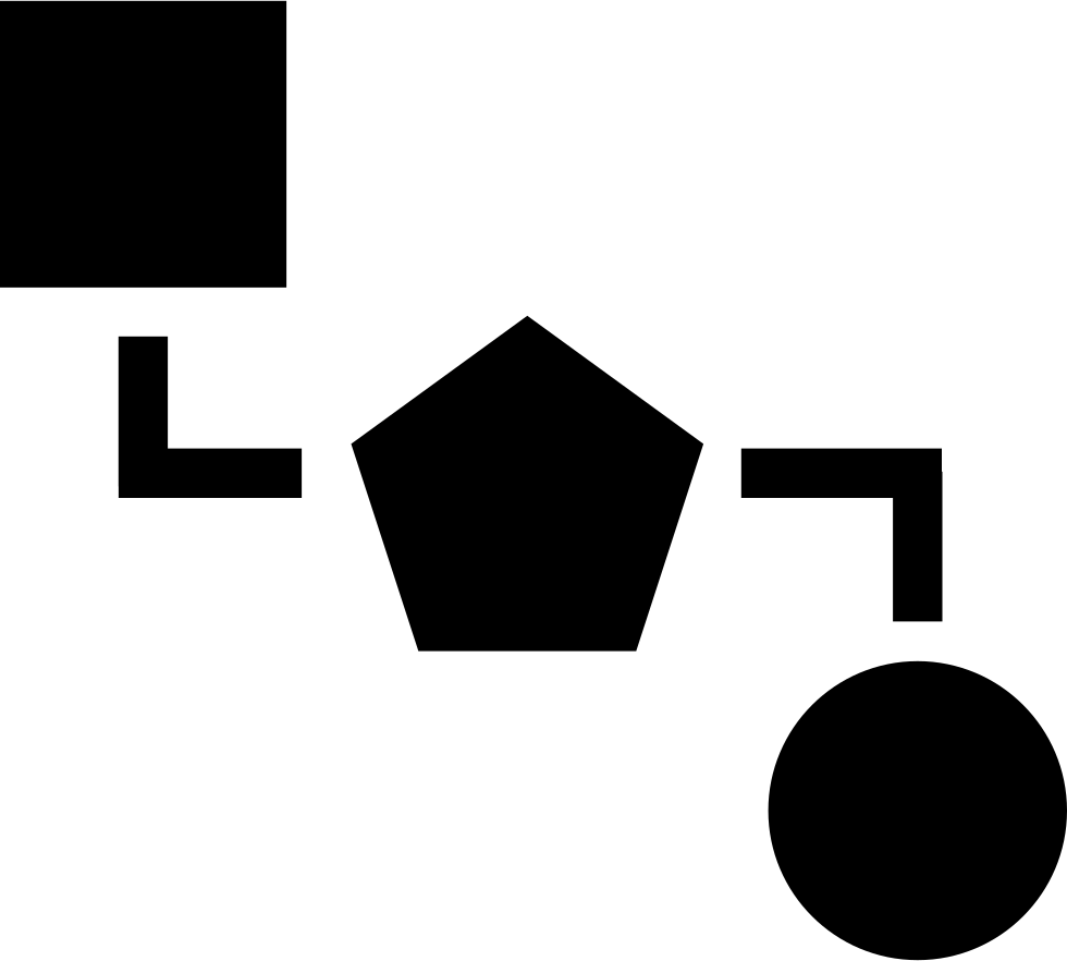 Blocks Scheme Of Three Black Geometric Shapes