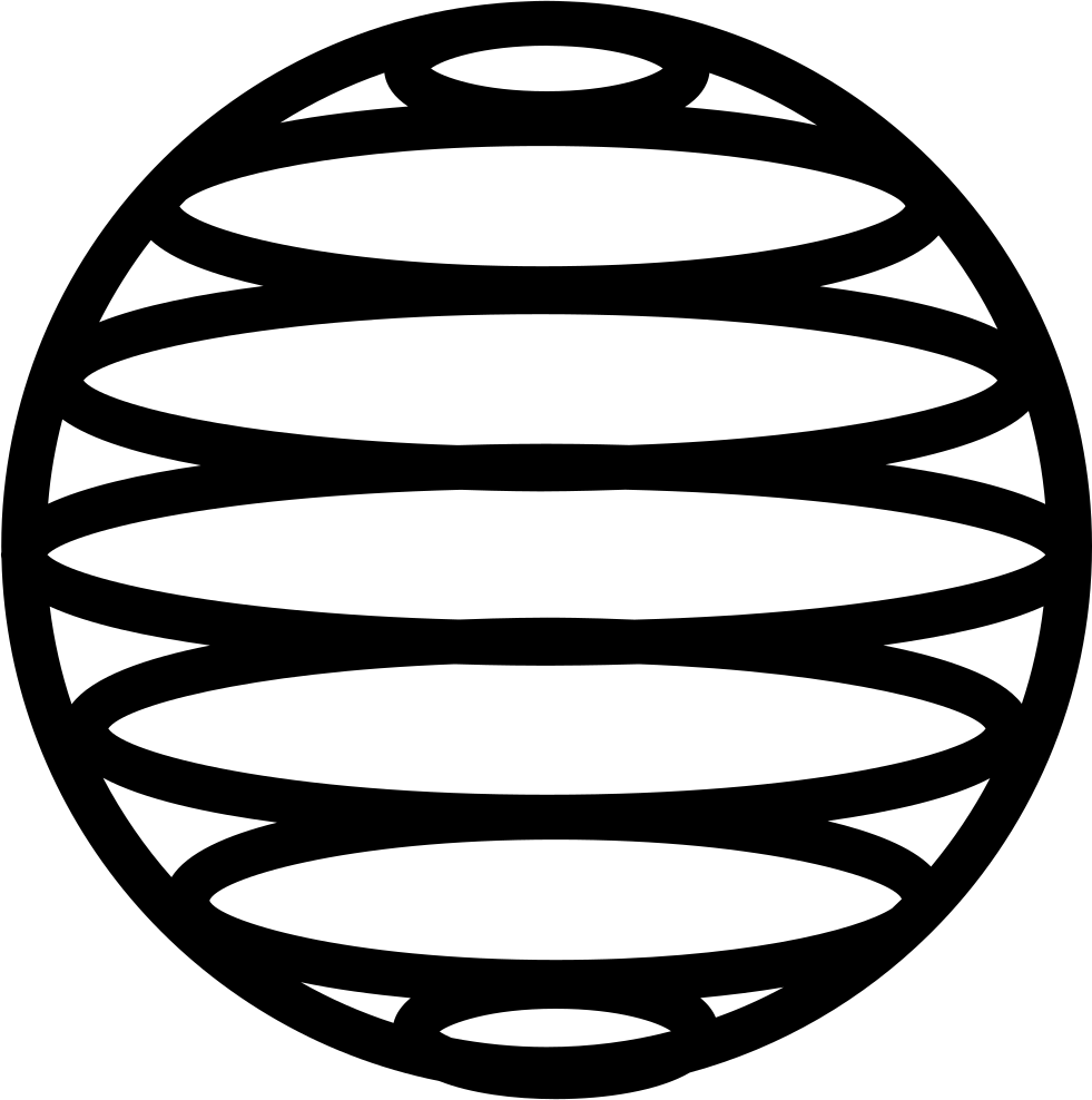 Earth Grid Of Horizontal Parallel Lines