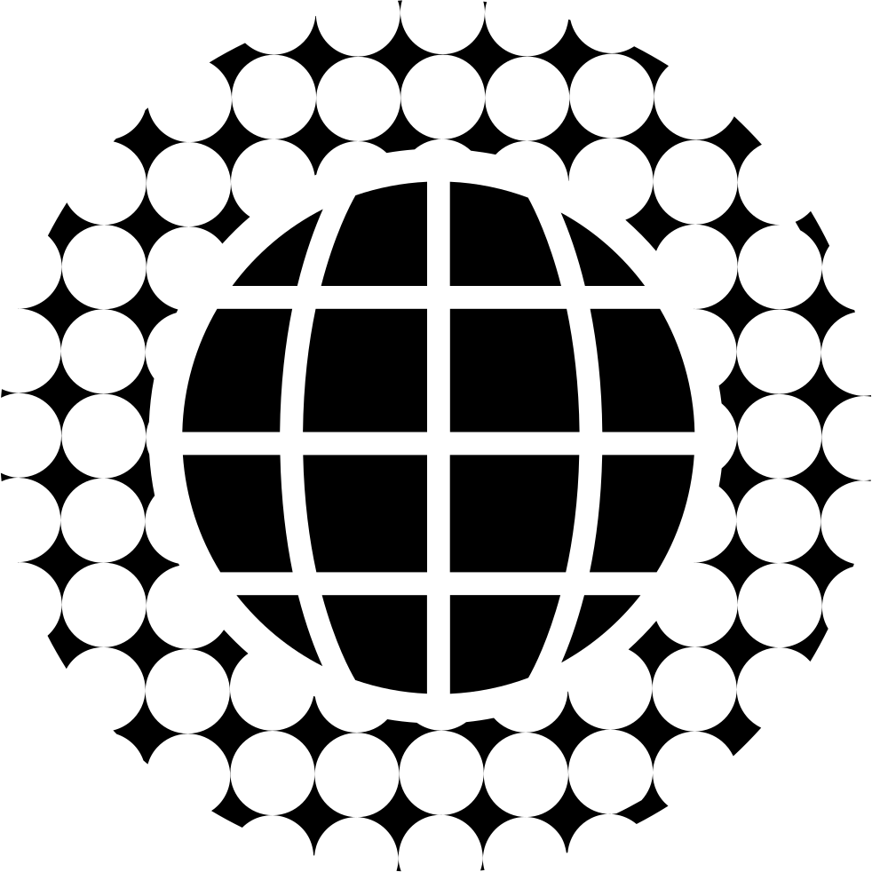 Earth Grid With Circular Pattern Around