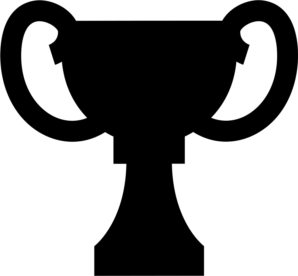 Award Black Shape Of Trophy Cup