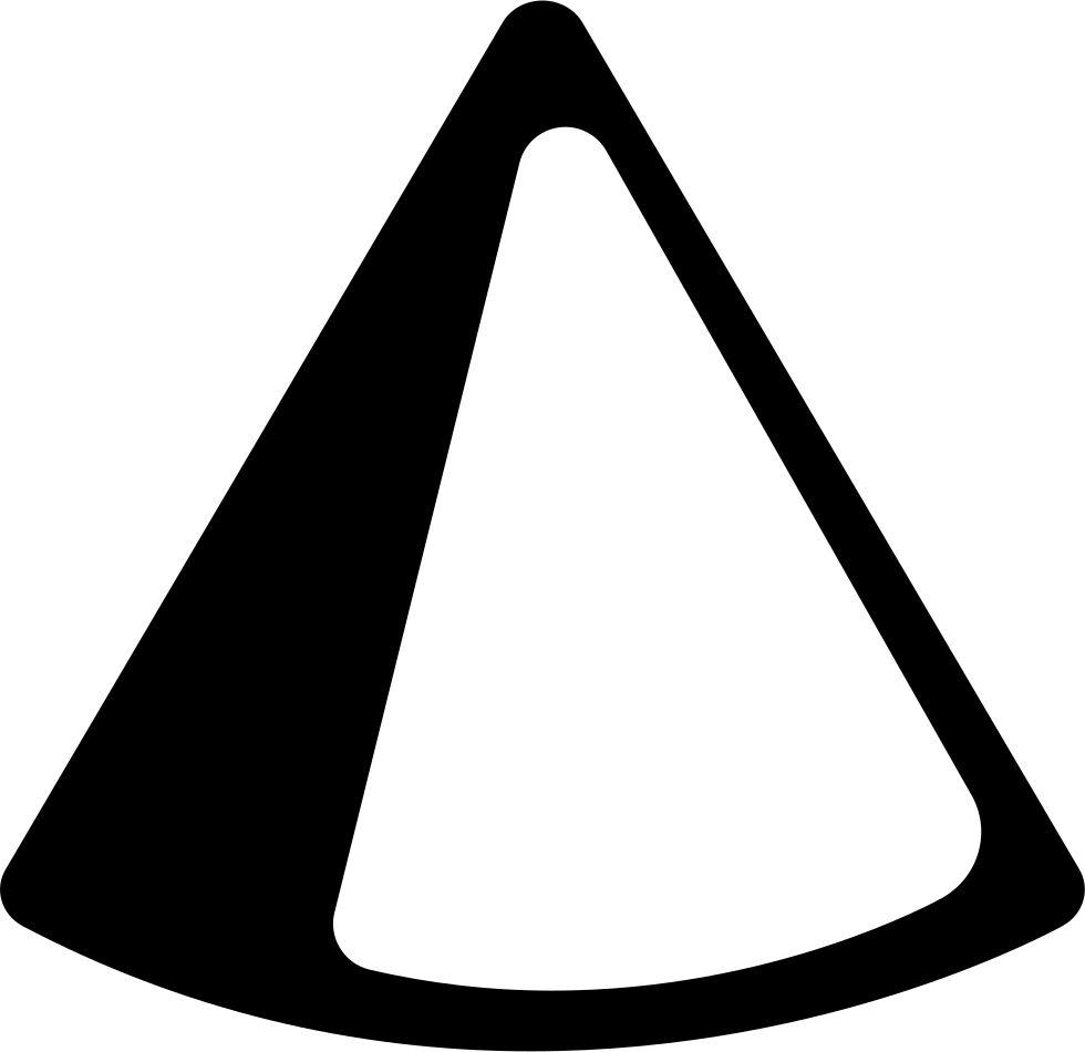 Cone Object With Shadow At The Edges