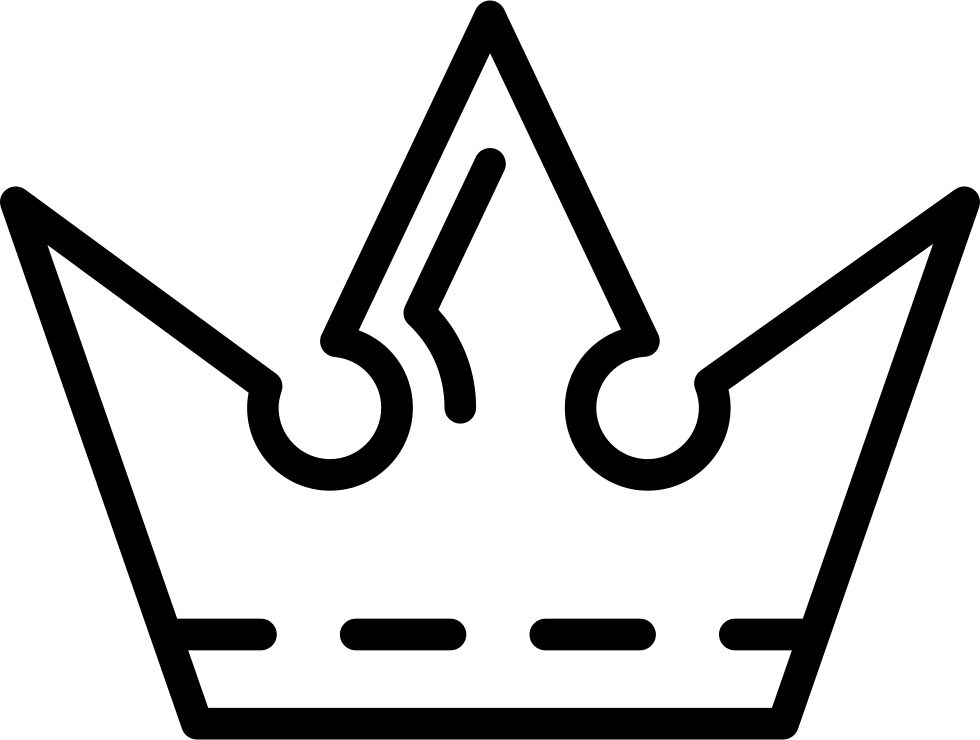 Royal Crown Outline Design