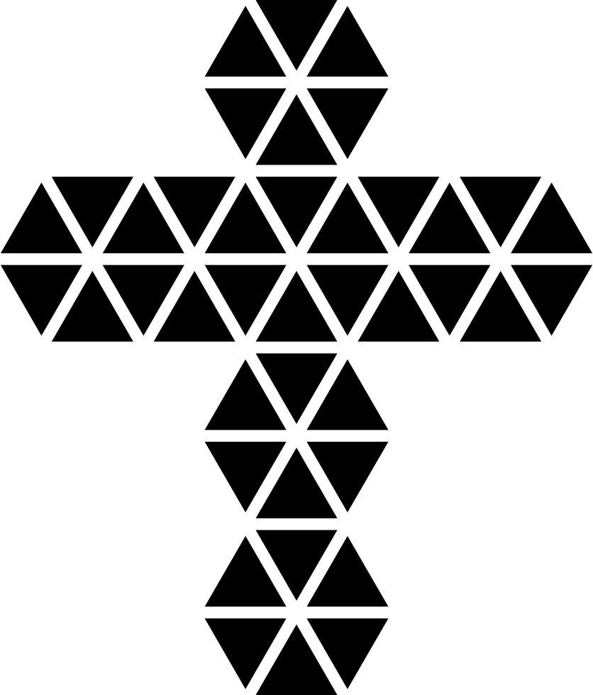 Polygonal Cross Of Small Triangles