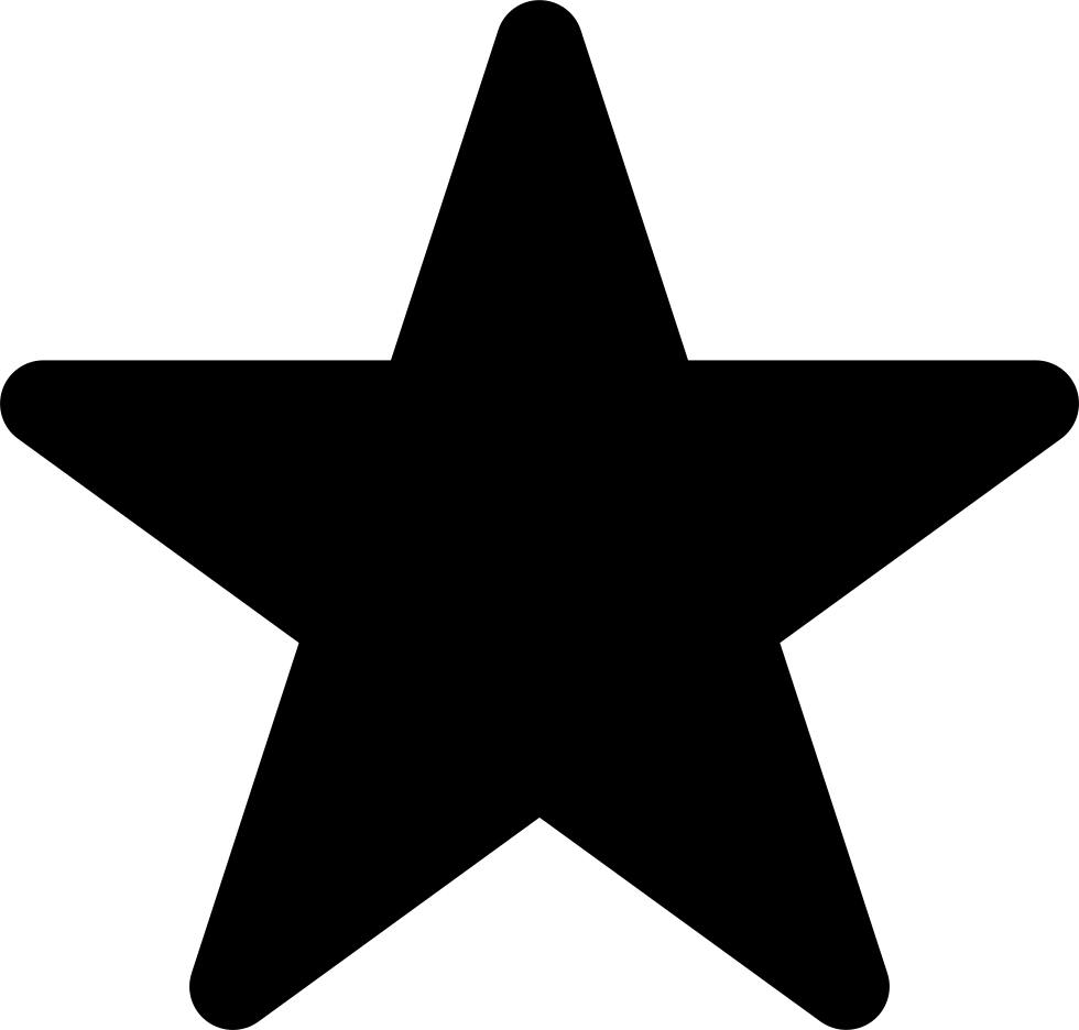 Star In Black Of Five Points Shape
