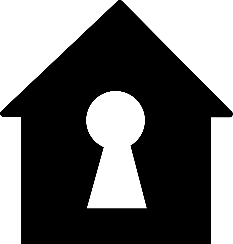 Keyhole In A Home Shape