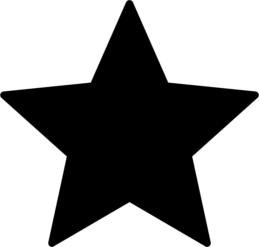 Star Black Shape Of Favourite Interface Symbol