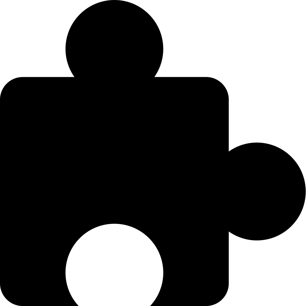 Puzzle Piece Black Shape Of Border