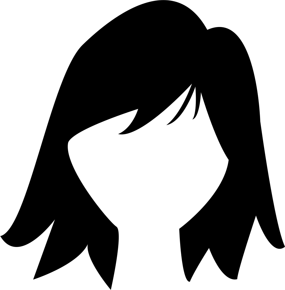 Short Dark Female Hair Shape