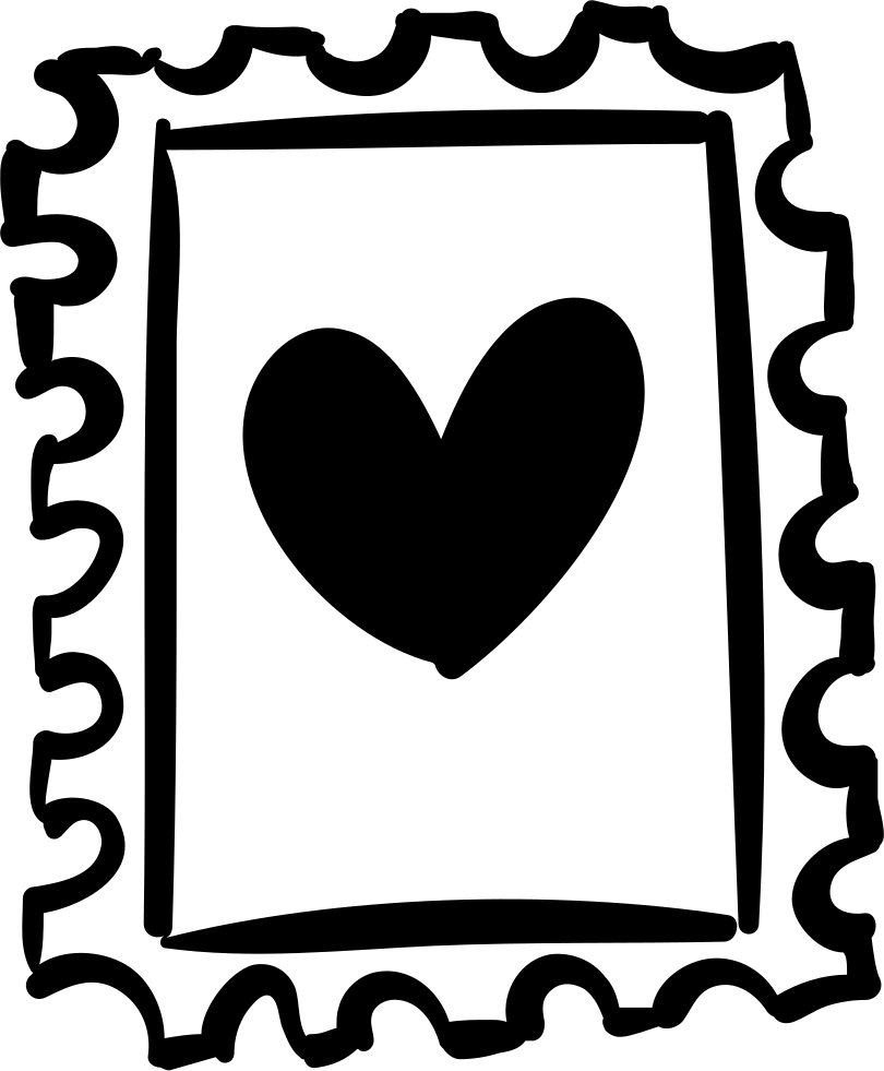 Stamp With Heart Drawing