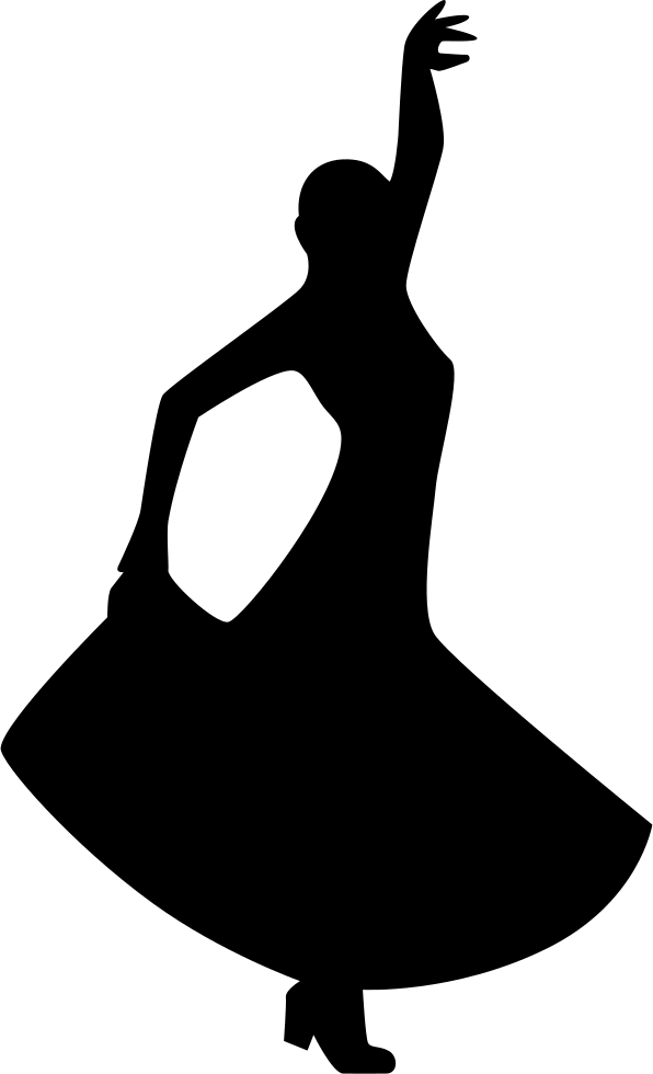 Flamenco Dancing Silhouette Of A Woman