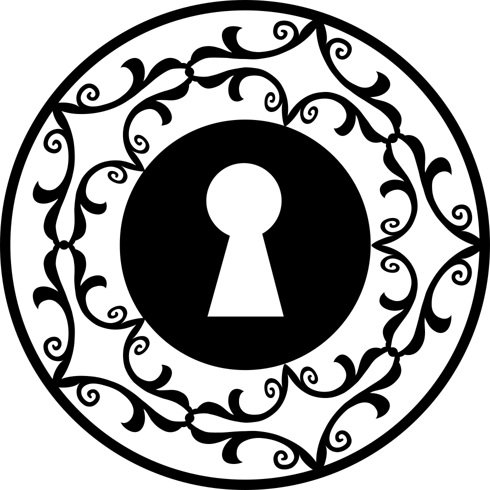 Keyhole In Decorative Circle