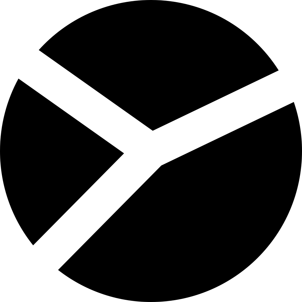 Circular Shape Divided In Three Areas