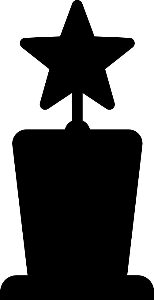Award Star Trophy Shape