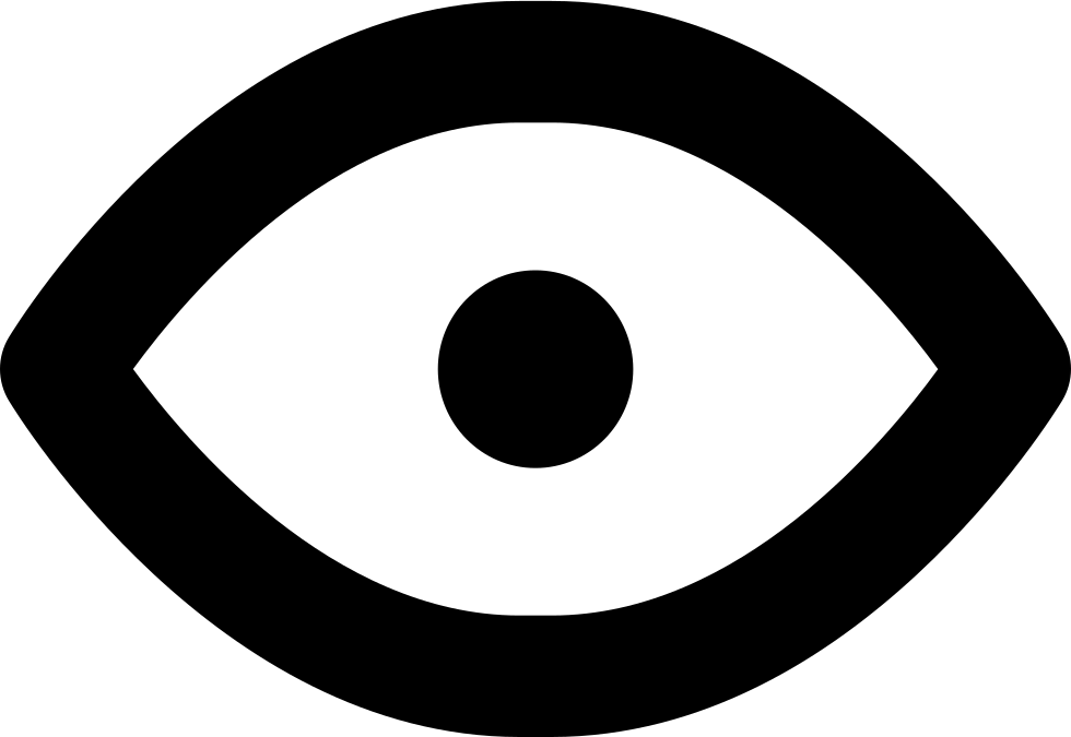 Open Eye Symbol Of Visualization