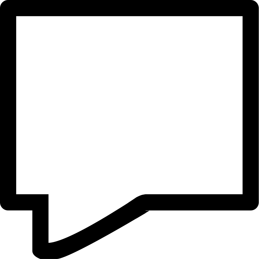 Chat Speech Bubble Outline Of Straight Rectangular Shape