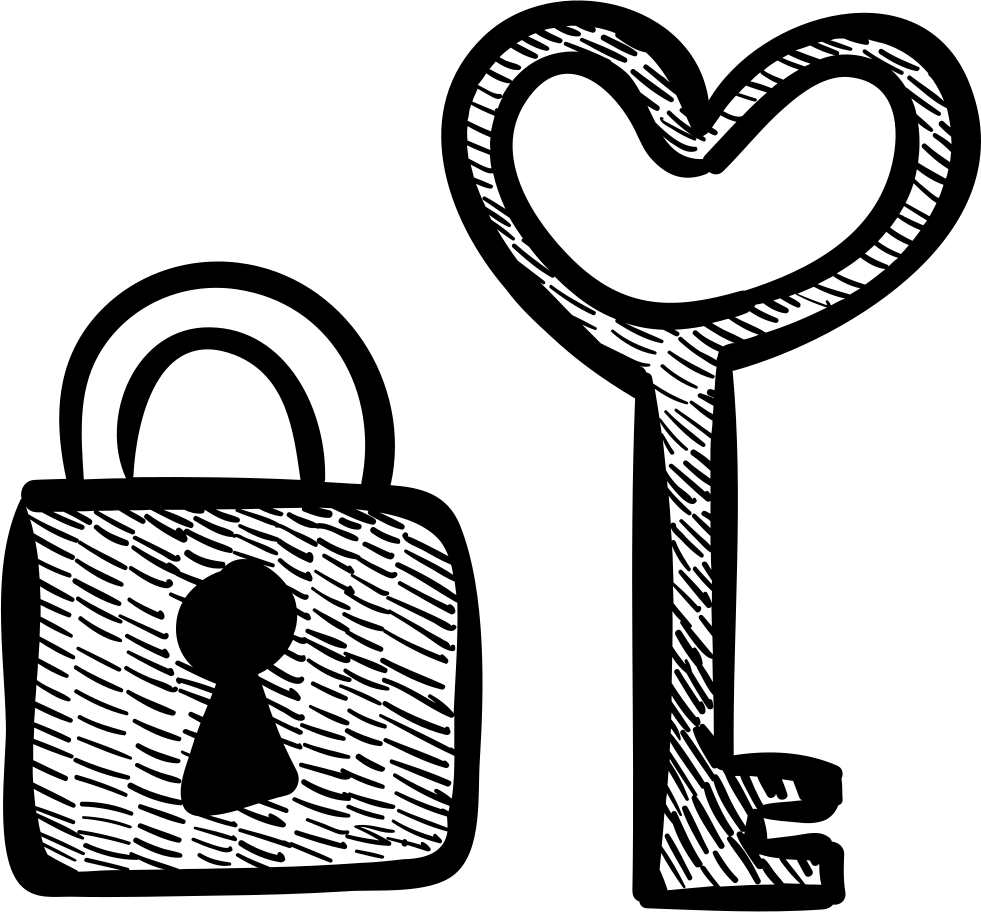 Heart Shaped Key And Padlock