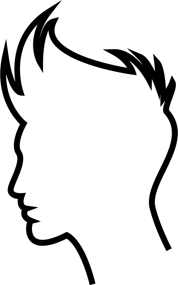 Boy Hair Outline