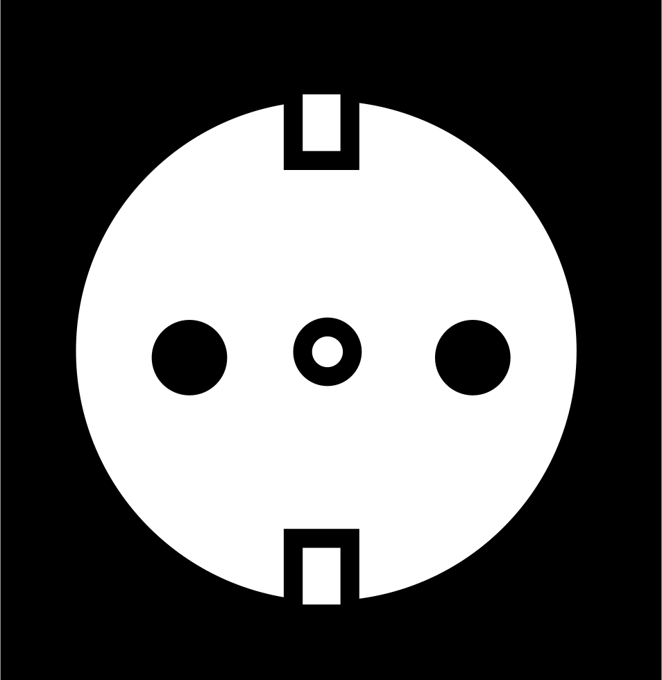 Electric Socket Of Circular Shape With Two Holes