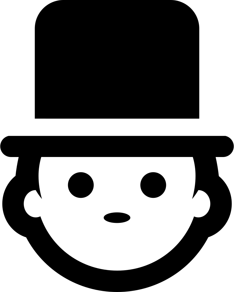Man Face With Top Hat