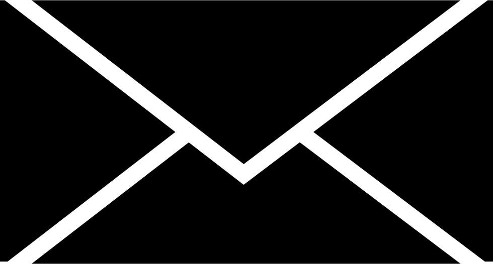Envelope Closed Black Shape