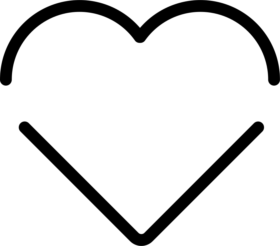 Heart Shape Of Two Lines