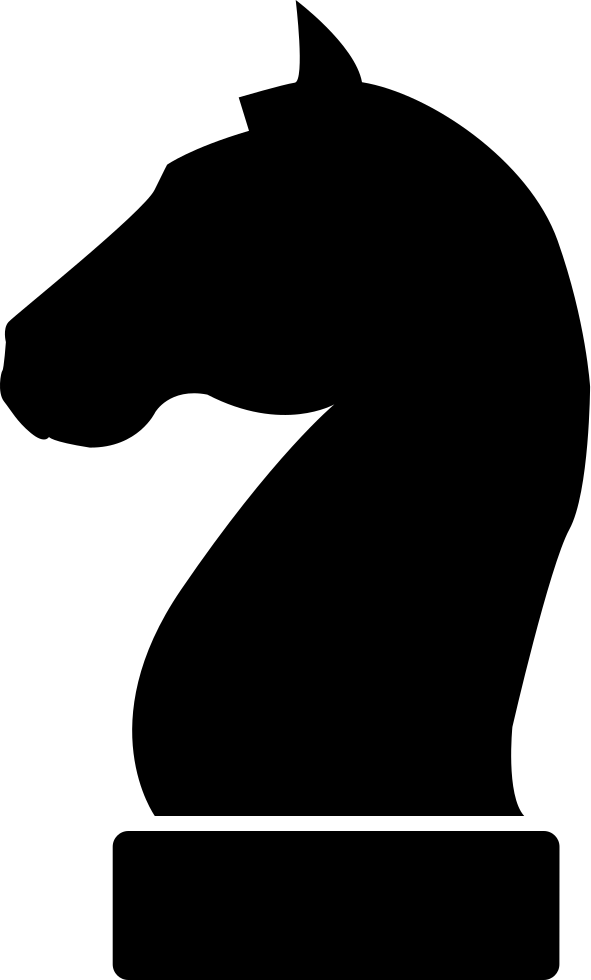 horse black head silhouette of a chess piece svg png icon