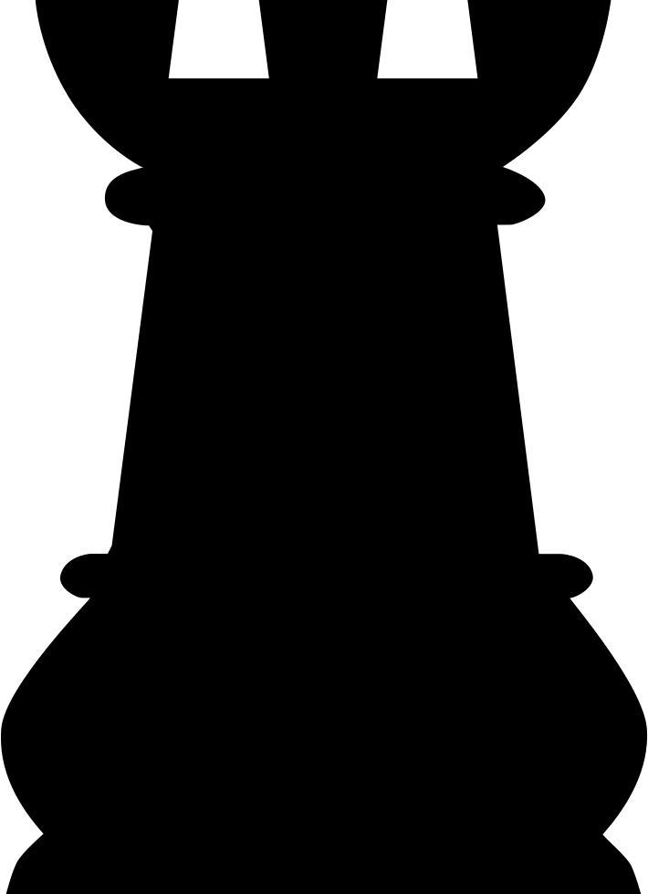 Tower Black Chess Piece Shape